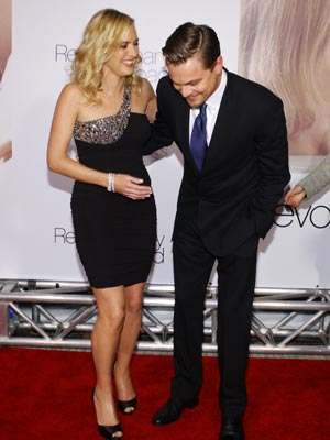 Kate Winslet | Kate Winslet and Leonardo DiCaprio share a joke | Now Magazine | Celebrity Gossip