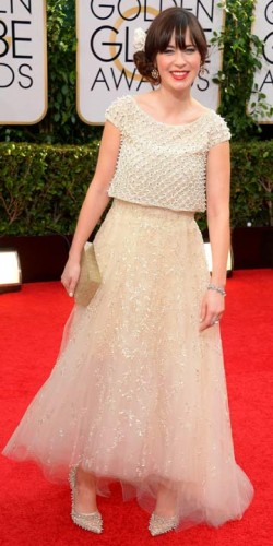 Zooey Deschanel | Golden Globes 2014 | Pictures | Photos | New | Celebrity News