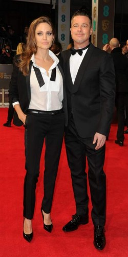 Angelina Jolie and Brad Pitt | BAFTA Film Awards 2014 | Pictures | Photos | New | Celebrity News