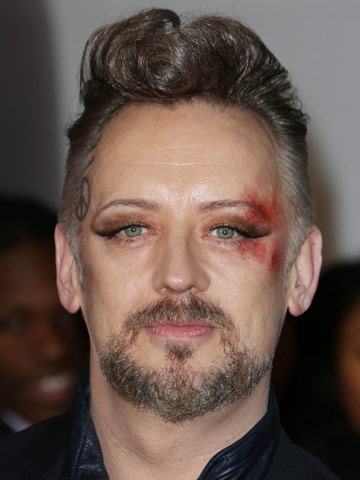 Omg Boy George Shows Off Thick New Curly Quiff And Crazy