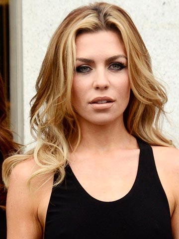 OMG! Abbey Clancy shows off hot new brown hair on London ...