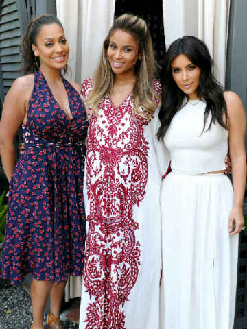 b405ad8674c Aw! Kim Kardashian gets  mommy memories  with BFFs at pregnant ...