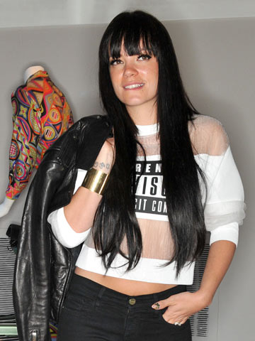 Hot New Hair Lily Allen Shows Off Straight Waist Length