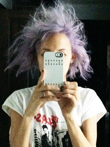 OMG! Nicole Richie has crazy purple 'cotton candy' hair in