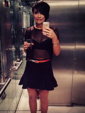 wow frankie sandford shows off hot postbaby body and