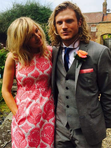 Wedding Joy Ellie Goulding Admires Boyfriend Dougie Poynter As Mcfly S Danny Jones Gets Married