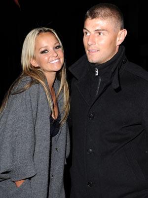 Jennifer Ellison shows off fiance Rob Tickle