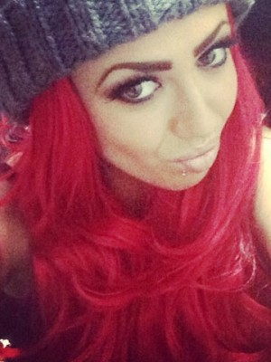 Instagram pictures of Holly Hagan's changing hair
