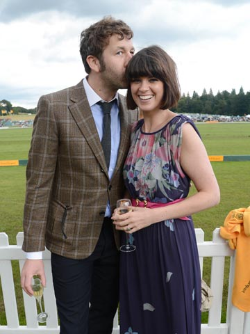 Chris O Dowd And Dawn Porter Veuve Cliquot Gold Cup Polo Pictures