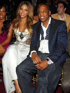 Beyonce Knowles and Jay Z are crazy in love
