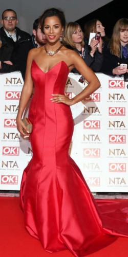 Rochelle Humes at National Television Awards 2015