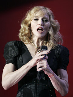Madonna shows off her freaky arms