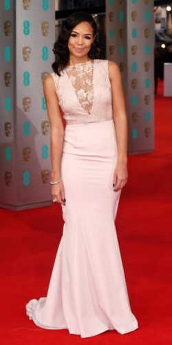 Sarah-Jane Crawford at BAFTAs 2015
