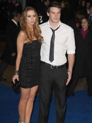 Una Foden and Ben Foden at Avatar premiere in London