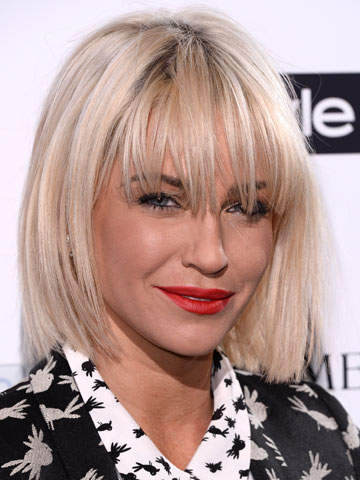 Hot New Hair Sarah Harding Steps Out At Instyle Party