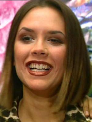 Victoria Beckham teeth Now magazine