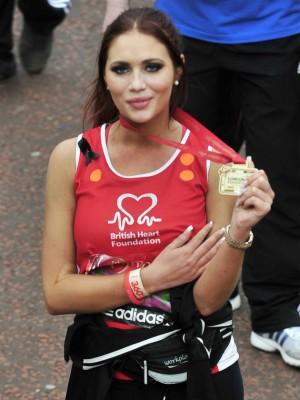 Amy Childs in Celebrity London Marathon runners