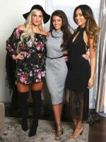her work here is done! Michelle Keegan styles two of her fave fashion bloggers in her new Lipsy range
