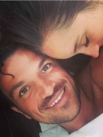 Peter Andre and Emily MacDonagh in bed July 2015