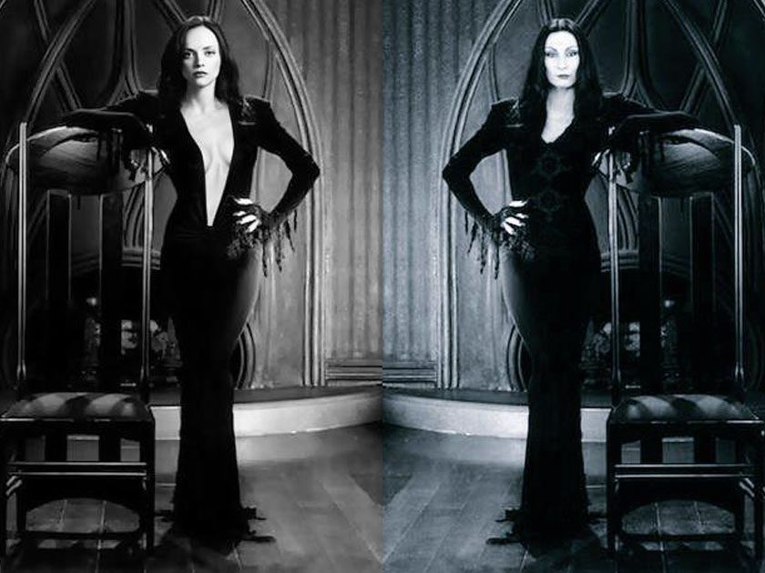 Picture Emerges Of Christina Ricci Dressed As Morticia Addams