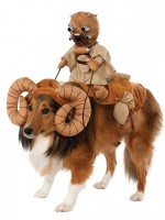 Why settle for a toy Bantha, when you can dress your dog up as the real thing? Maybe don't take it for walks like this, though.