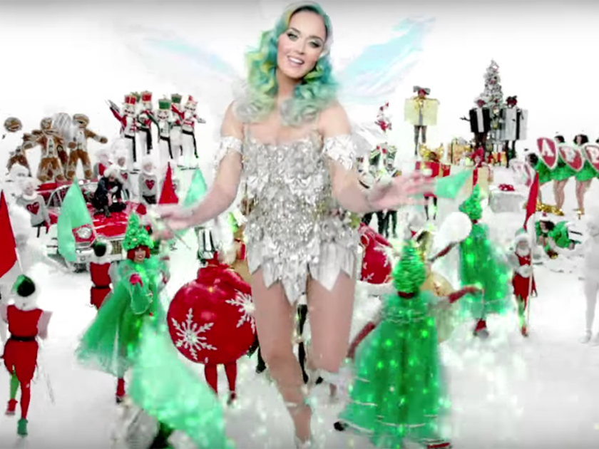 WATCH: Katy Perry\'s Christmas single Happy & Merry