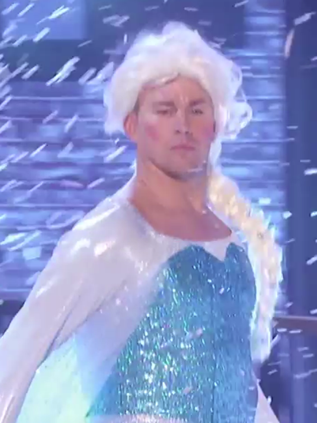 WATCH: Channing Tatum as Frozen's Elsa for Lip Sync Battle