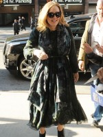 Mandatory Credit: Photo by Startraks Photo/REX/Shutterstock (5435786d) Adele Adele out and about, New York, America - 25 Nov 2015 Singer Adele returns to her TriBeCa Hotel WEARING BURBERRY DRESS