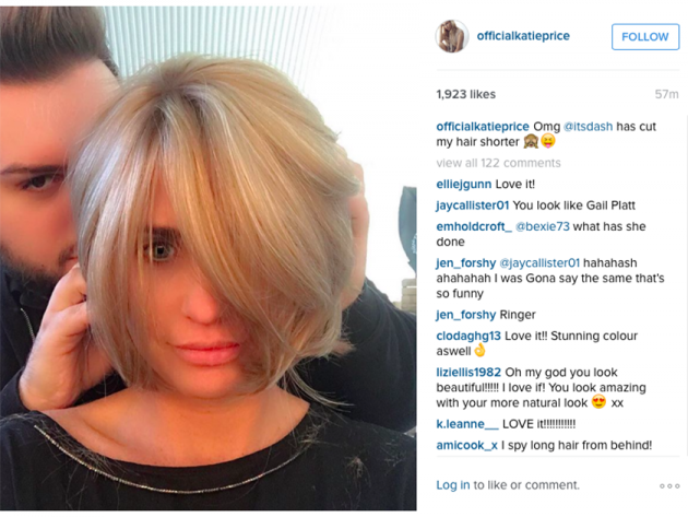 Katie Price Gets A Super Short Bob Hairstyle Amp It Looks