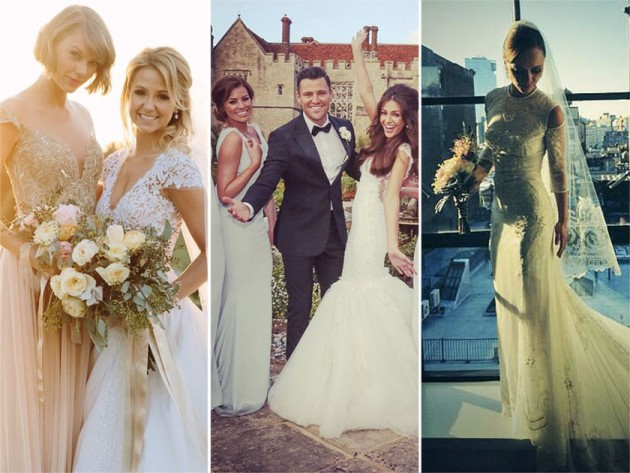 Celebrity wedding inspiration dream dresses venues more for Celebrity wedding guest dresses