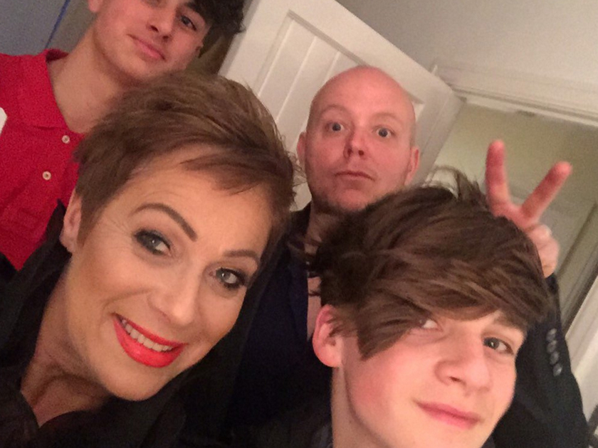 Denise Welch With Husband Lincoln And Son