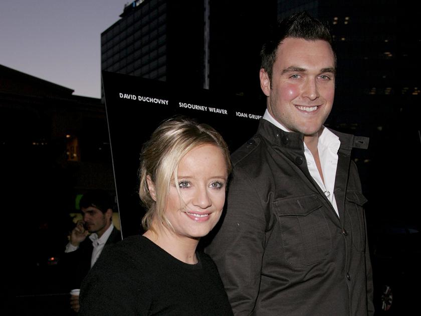 Lucy Davis and husband