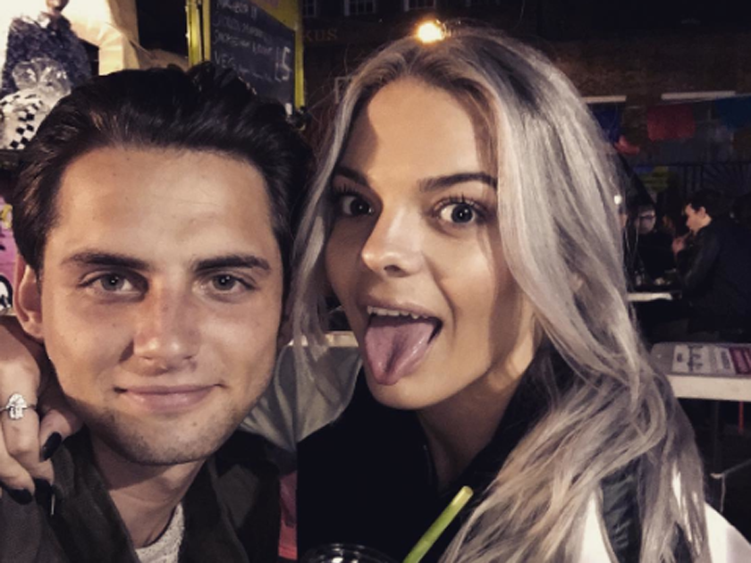 Former boyfriend and girlfriend: Daniel Elliott and Louisa Johnson