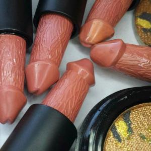 Lipstick on vagina