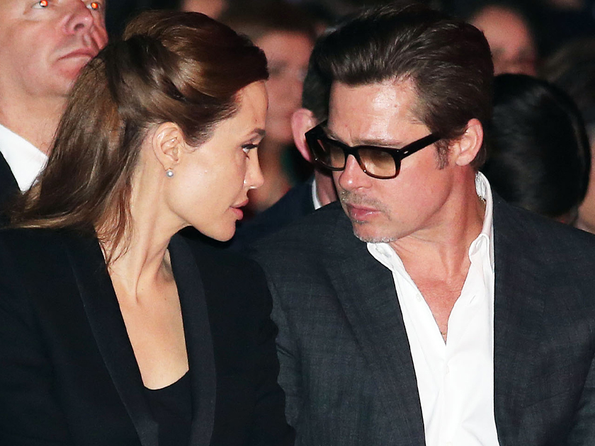 Celebrity news       Now     s big review of splits and spats Now magazine    Brad Pitt and Angelina Jolie split