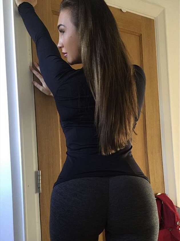 brazilian anal in sexy leggings
