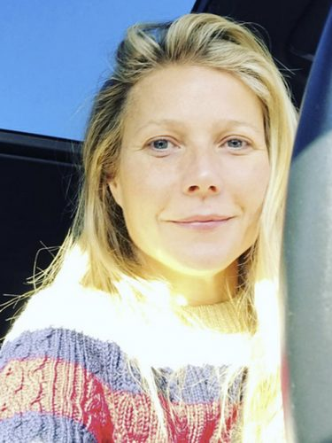 Gwyneth Paltrow No Makeup Selfie - The Hollywood Gossip