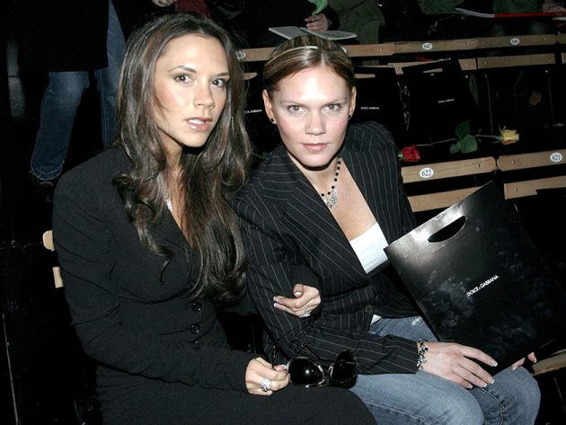 Victoria Beckham and Louise Adams: Sisters, but worlds apart