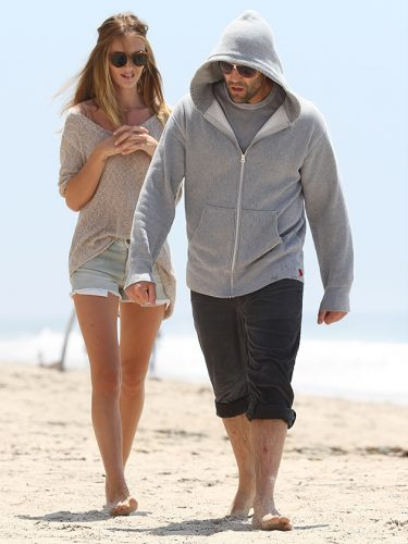 Rosie Huntington-Whiteley and Jason Statham enjoying their time on beach
