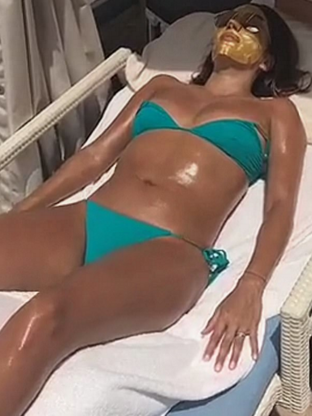 Eva Longoria speaks out about 'pregnancy belly' after holiday bikini pictures get fans talking