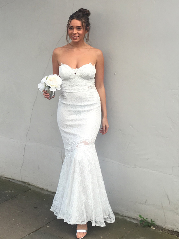 We try and test the latest high street wedding dresses, see the pics ...