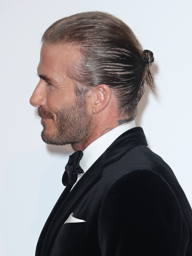 David Beckham Shows Off His New Hairstyle The Bun Is Back