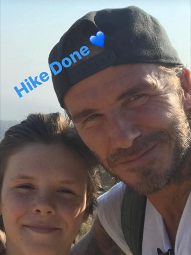 David Beckham keeps fitness in the family by doing THIS...