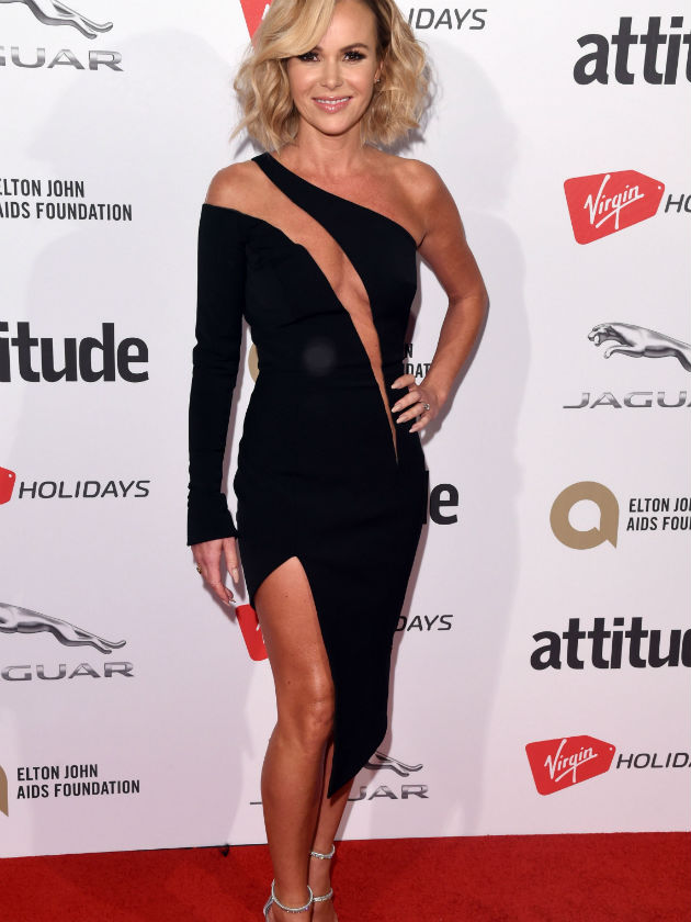 AWKS! Amanda Holden almost has a BIG wardrobe malfunction...
