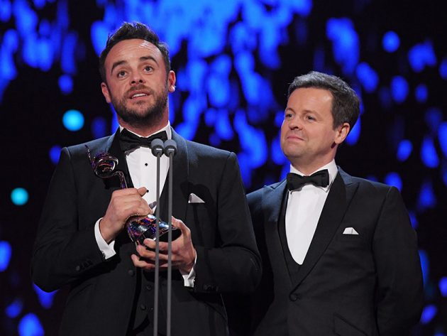 Ant McPartlin fights back tears on stage at NTA Awards 2018