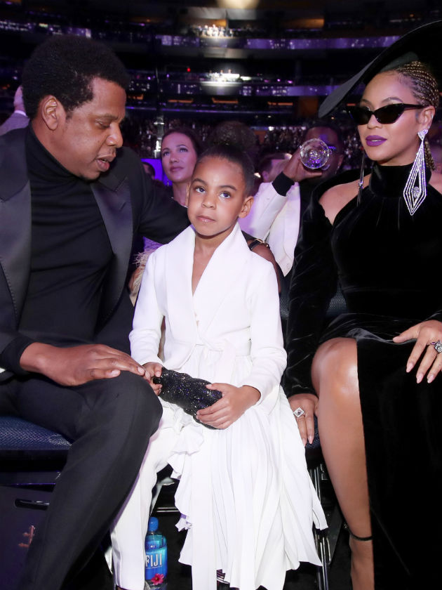 Beyonce and Jay Z's Blue Ivy Carter caught SHUSHING them ...