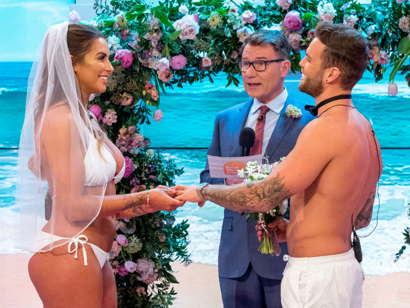 Richard Made Sure The Vows Were Love Island Themed With One For Dom 26 Reading I Promise To Share Our Life Story On Social Media From This Day Forward