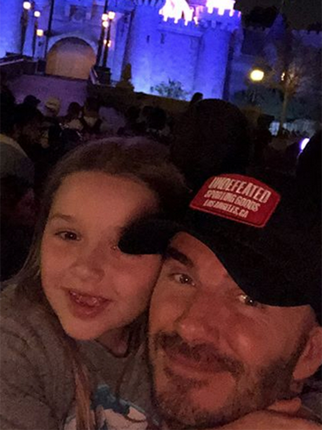 David Beckham gets a VERY glittery makeover from daughter ...