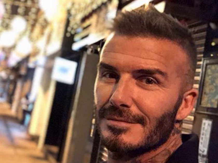 david beckham shows off new hair cut as he gets selfie happy in macau. Black Bedroom Furniture Sets. Home Design Ideas