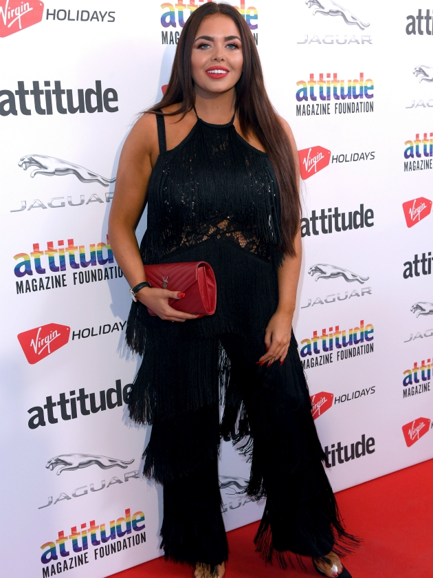 Scarlett Moffatt returns to the red carpet in sultry black jumpsuit after revealing mental health struggles